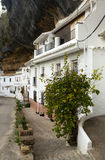Dwelling  houses built into rock Royalty Free Stock Photo