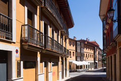 Dwelling houses on old part of Leon Stock Photo
