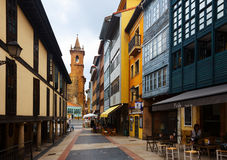 Dwelling houses at old part of Oviedo Royalty Free Stock Image