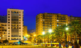 Dwelling houses at  port side. Algeciras Royalty Free Stock Photography