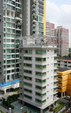 Dwelling houses on the street of Singapore Royalty Free Stock Images