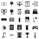 Dwelling icons set, simple style Royalty Free Stock Photo
