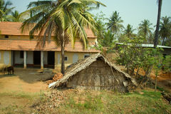 Dwelling in Indian province. Stock Photo