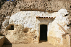 Dwelling in the mounts near Guadix, Andalusia Stock Photography