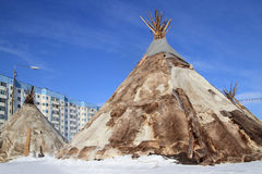 Dwelling of northern peoples of Siberia Stock Photography