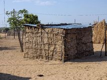 Dwelling in the poorest areas of northern Namibia Stock Photography
