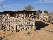 Dwelling in the poorest areas of northern Namibia Stock Photo