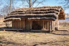 Dwelling site. The Āraiši lake dwelling site Royalty Free Stock Images