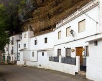 Dwellings built into rock. Setenil de las Bodegas, Spain Stock Images
