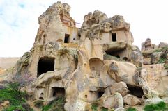 The dwellings of the first Christians in the rocks, Cappadocia, Central Turkey. Cappadocia is characterized by an extremely interesting volcanic landscape Stock Images