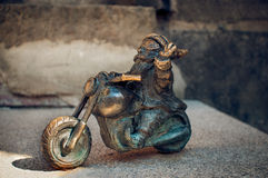 Dwergmotocyklista Wroclaw Stock Afbeeldingen