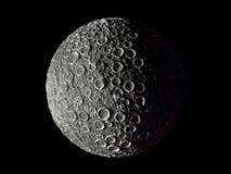 Dwergplaneet met stervormige effecten, hoge builen stock afbeelding