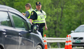 DWI Check Point Lizenzfreies Stockfoto