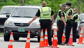 DWI Check Point. Mark Collier  /  Staff Photo Royalty Free Stock Photography