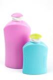 dwie butelki pastic zdjęcia royalty free
