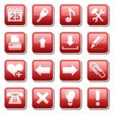 dwie części sieci ikony Obrazy Stock