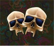 dwie czaszki Zdjęcia Royalty Free