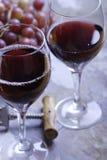 dwie czerwone wino szkła zdjęcie stock