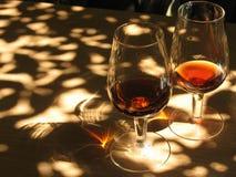 dwie czerwone wino szkła zdjęcia stock