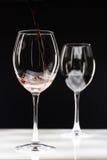 dwie czerwone wino szkła Fotografia Stock