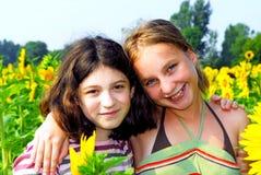 dwie dziewczyny Obrazy Royalty Free