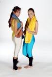 dwie dziewczyny fizycznych fitness Zdjęcia Stock