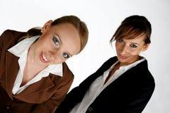 dwie dziewczyny przedsiębiorstw Zdjęcia Royalty Free