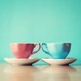 dwie filiżanki herbaty Obraz Stock