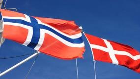 dwie flagi Fotografia Royalty Free