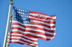 dwie flagi obraz royalty free