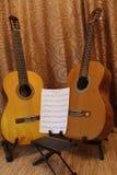 dwie gitary Fotografia Royalty Free