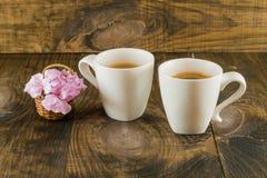 dwie kawy Zdjęcia Stock