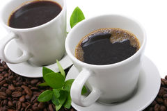 dwie kawy Fotografia Royalty Free