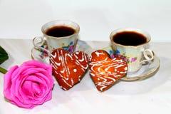 dwie kawy Zdjęcia Royalty Free