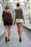 dwie kobiety chodzącej Zdjęcie Royalty Free