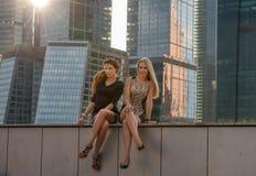 dwie kobiety young Fotografia Royalty Free