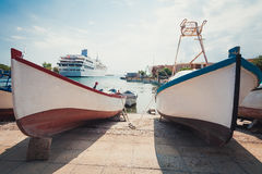 dwie łodzie fotografia royalty free