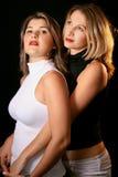 dwie piękne dziewczyny Obrazy Stock