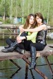 dwie piękne dziewczyny Zdjęcia Royalty Free