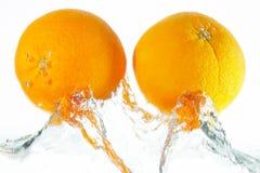 dwie pomarańcze Zdjęcie Royalty Free