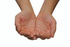 dwie ręce Obrazy Royalty Free