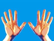 dwie ręce Ilustracji