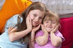 dwie siostry obrazy stock