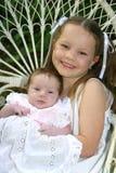 dwie siostry portret Fotografia Royalty Free