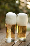 dwie szklanki piwa Obrazy Royalty Free