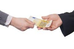 Dwieście Euro banknot (odizolowywający) Zdjęcia Stock