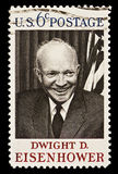 Dwight D. Eisenhower Postal Stamp. Dwight D. Eisenhower 34th President of the United States (1953-1961).  Issued in 1969 Royalty Free Stock Photos