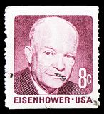 Dwight David Eisenhower, 1970-1974 Regular Issue serie, circa 1971. MOSCOW, RUSSIA - MARCH 23, 2019: A stamp printed in shows Dwight David Eisenhower, 1970-1974 royalty free stock photos