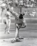 Dwight Doc Gooden, New York Mets. Image taken from B&W negative royalty free stock images