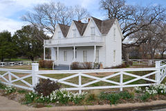 Dwight Eisenhower birthplace. The historic site preserving the birthplace of future D-Day leader and American president Dwight D. Eisenhower stock image